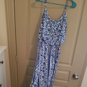 Blue & white floral H&M maxi style summer dress